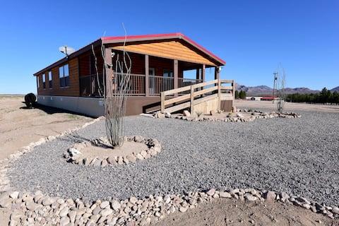 Cienega Ranch Log House. Rodeo NM