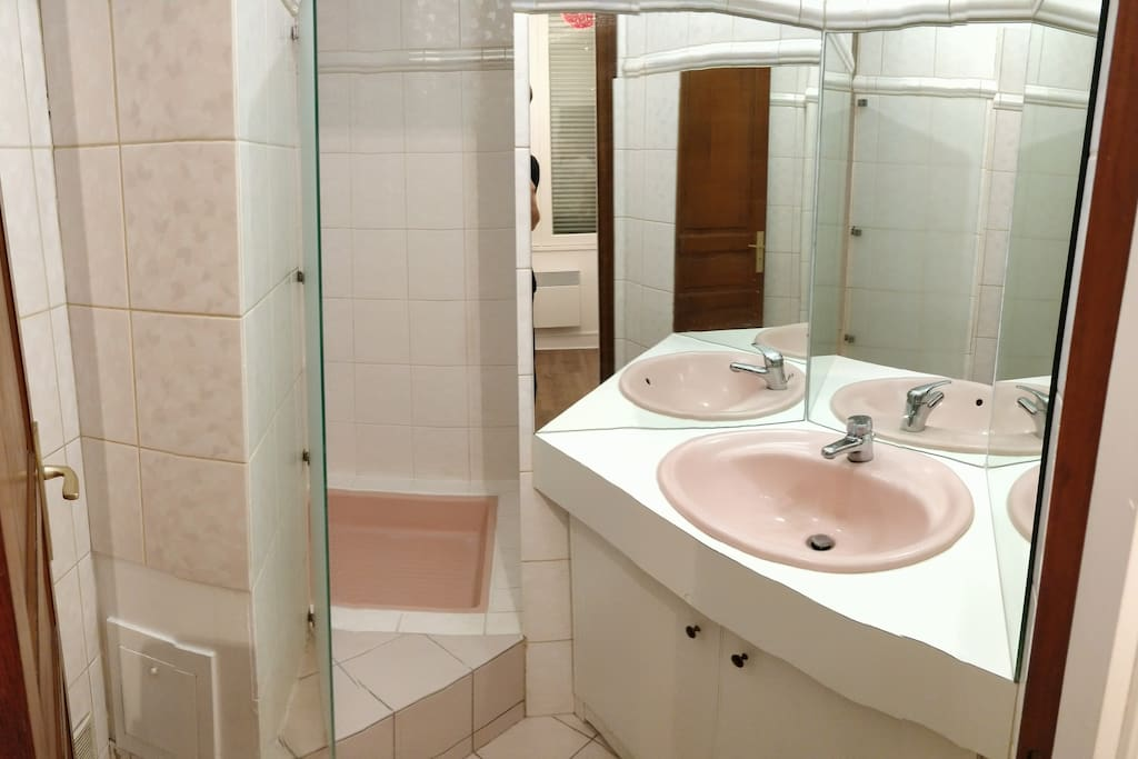 Private bathroom available directly from your room.