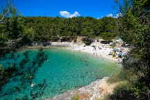 Great beach just 150-200m from app