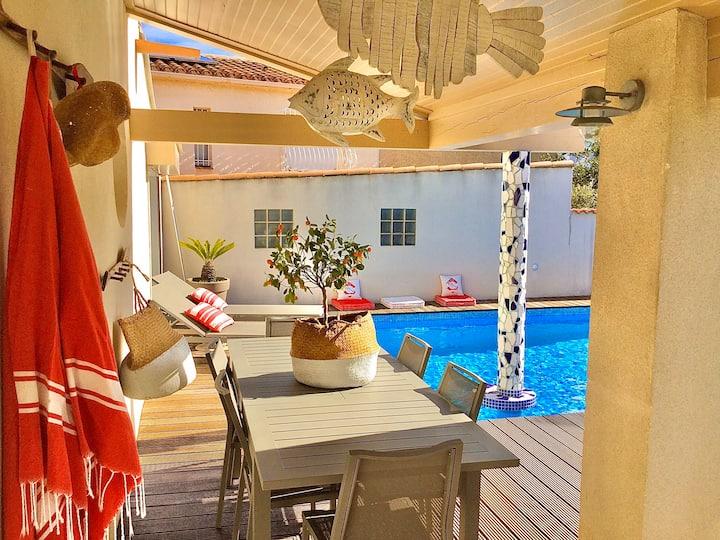 La Maison du Bonheur F5 jardin et piscine