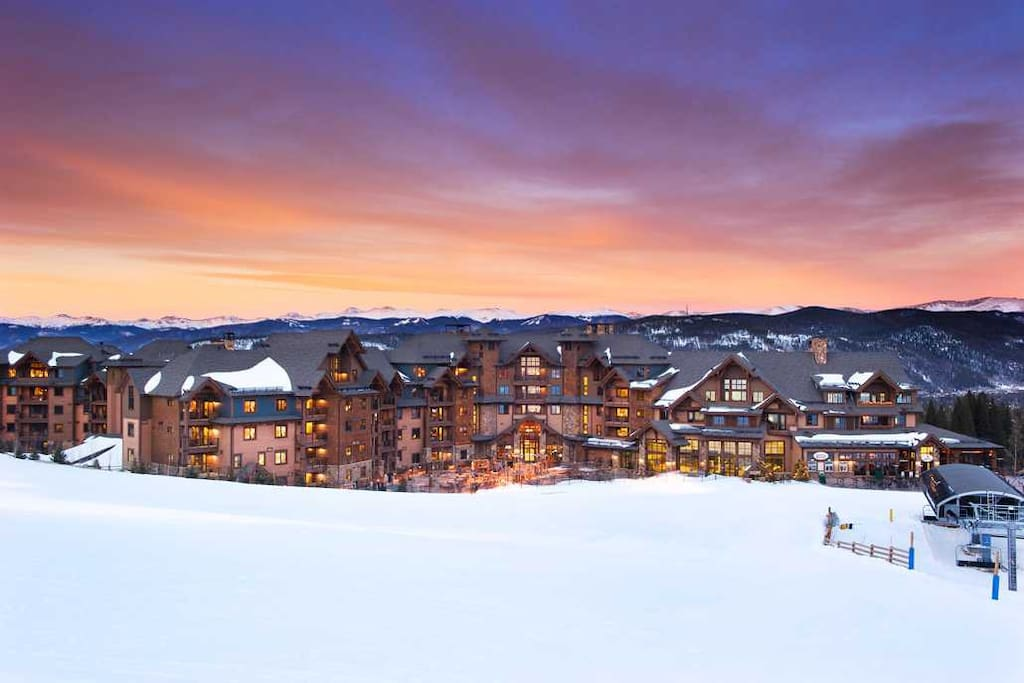 Luxury on the slopes of Breckenridge with Rocky Mountain views from the resort property