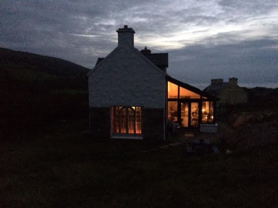 The house from the East side at dusk!