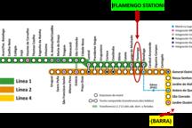 Metro - map. We're close to Flamengo Station/ O aprtamento é próximo à Estação Flamengo do metrô.