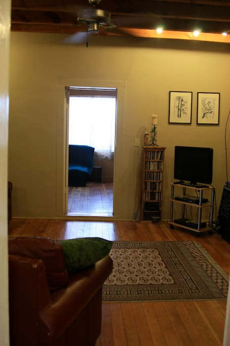 Common space and bedroom entrance.