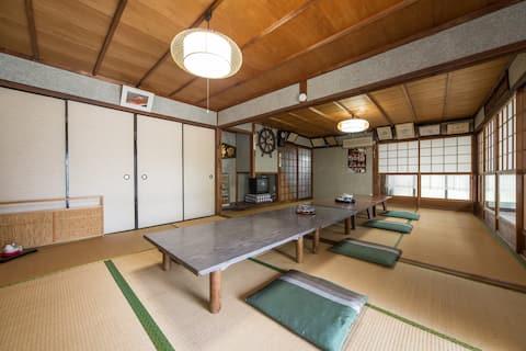 12ppl Lakeside House!17min to Kyoto