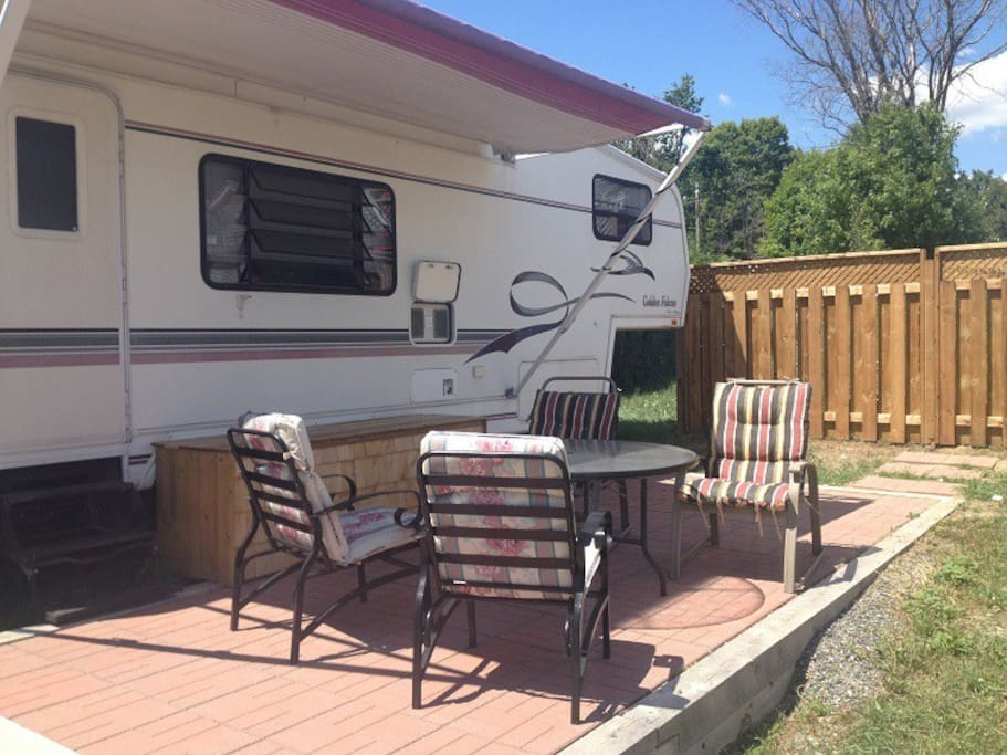 The RV Patio; come and relax tonight!