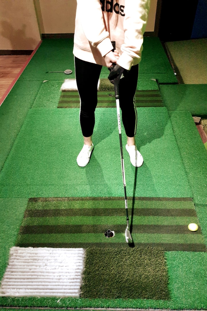 She was a beginner Golfer! Dont worry!