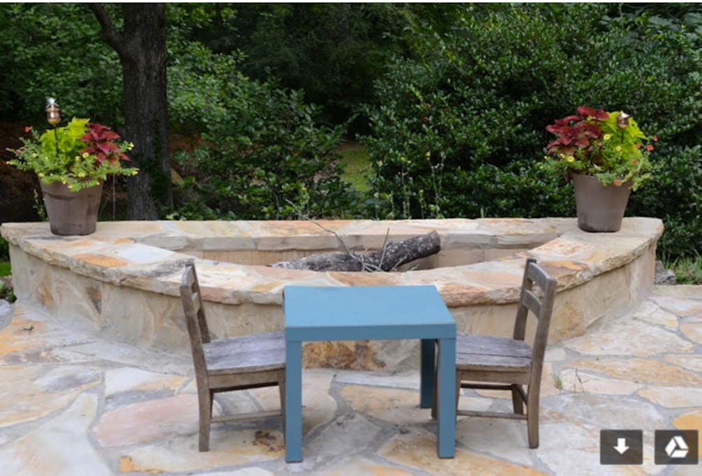Feel free to use the outdoor fire pit and dining space.