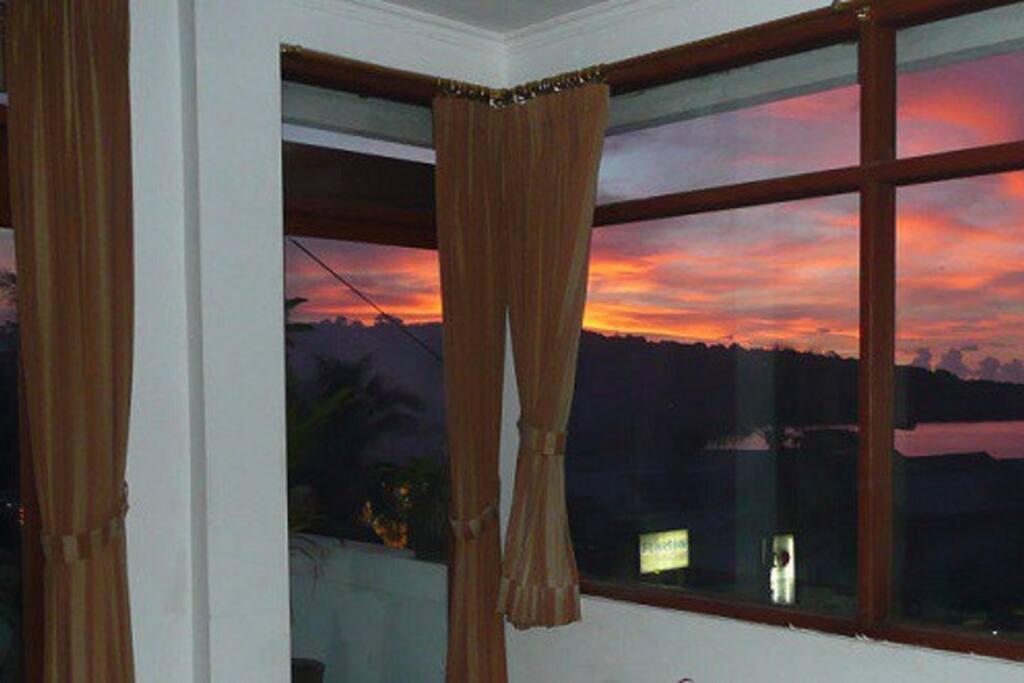 The famous Jimbaran sunset