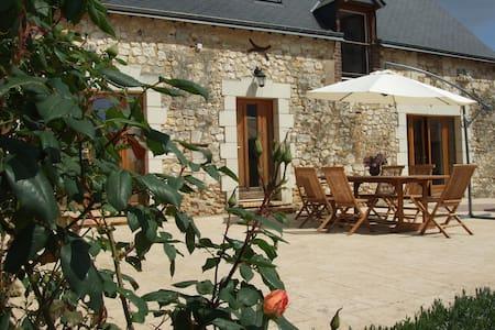 A Magnificant Farmhouse with a pool - Dissé-sous-le-Lude - 一軒家