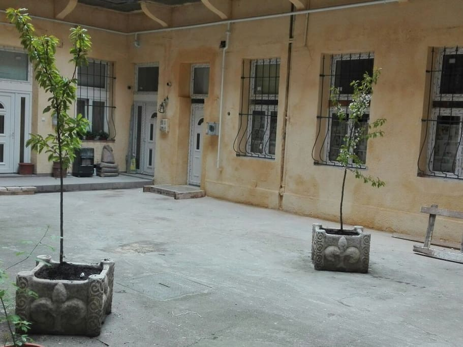 The inner courtyard of the building