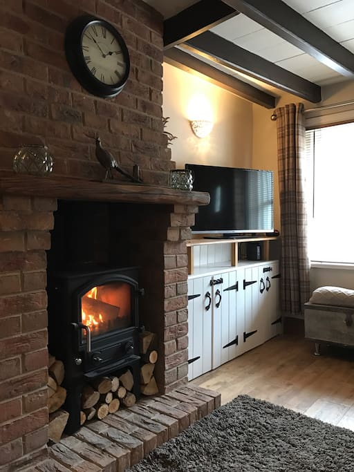 With plenty of logs for that cosy cottage feel.
