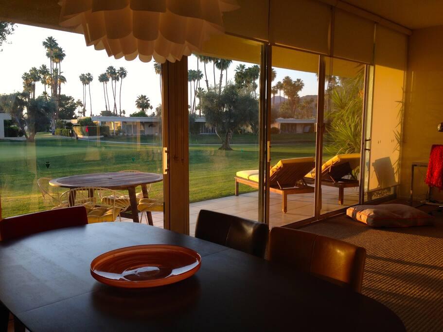 Dining room overlooking scenic fairway