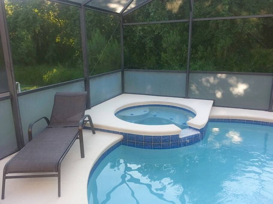 private pool/spa with conservation view