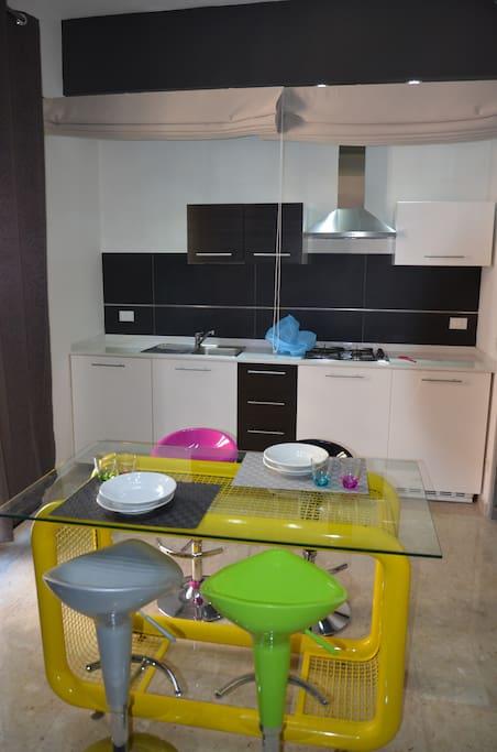 Zona pranzo-cucina