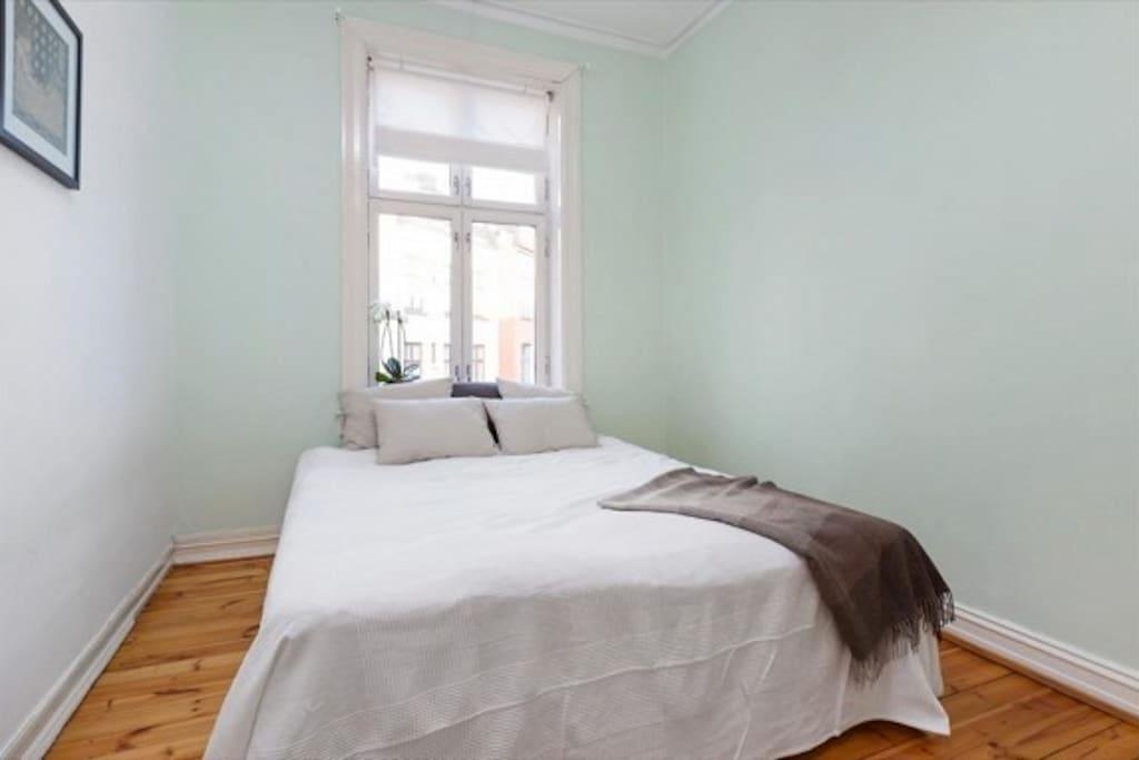 Big bed in a big bed room