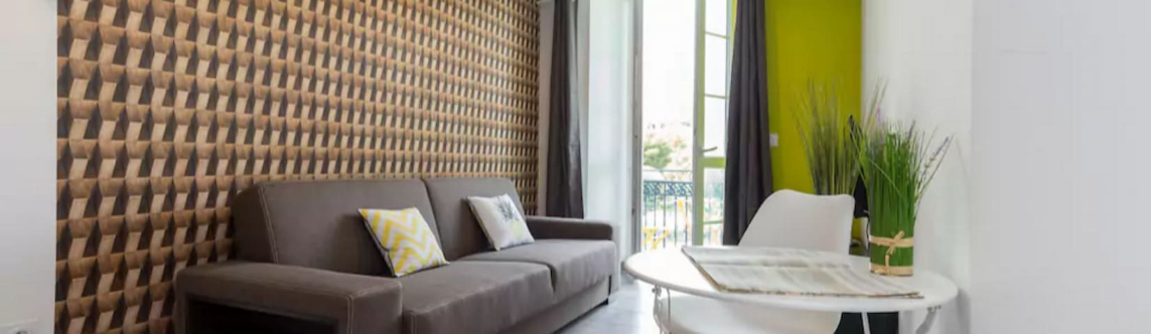 Separation Salon Chambre Studio airbnb®   nice - vacation rentals & places to stay