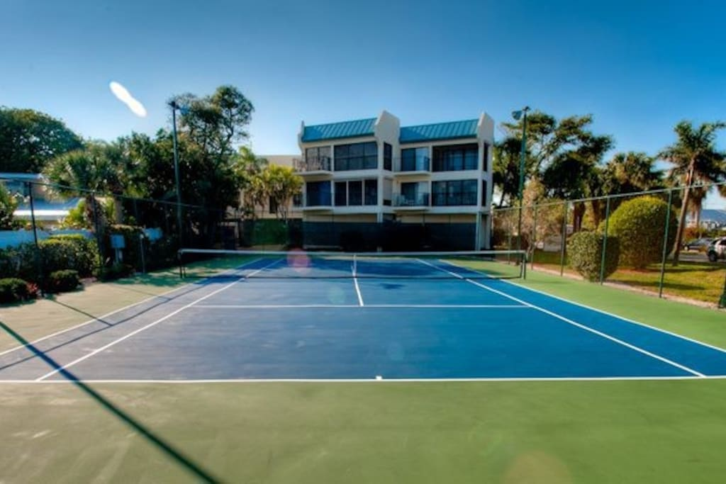 Tennis, anyone? Bring your racket! But we've got you covered if you forget :)