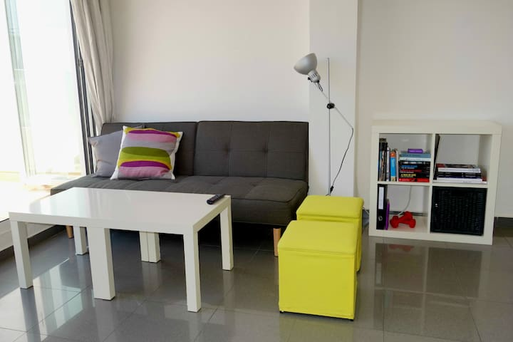 Living room, sofa up