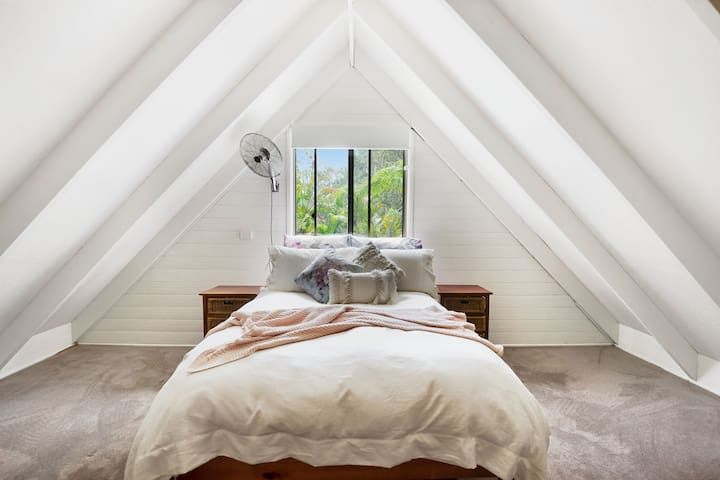 Bedroom 3 - loft accessed by steep stairs