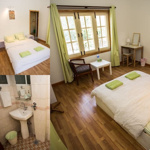 Green Tara Room, private with bathroom,  Swayambhu