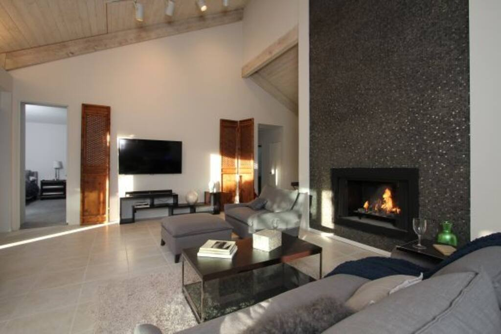 This fireplace goes up 24 Ft!