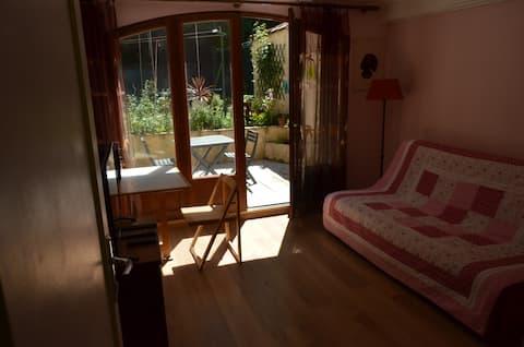 Chambre avec terrasses et salle de bain-wc privée