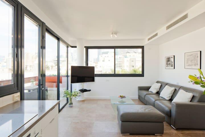 Luxury Duplex, sea view 2min to beach parking