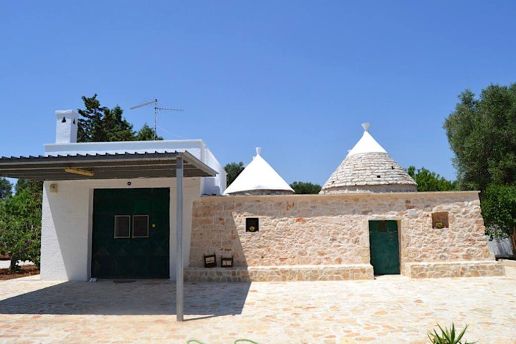 Front of the Trullo and Lamia (on the left side)