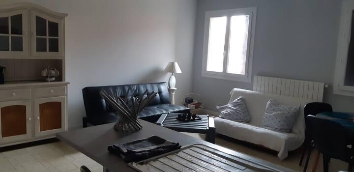 Bel appartement T3 d'environ 100m2 avec jardin