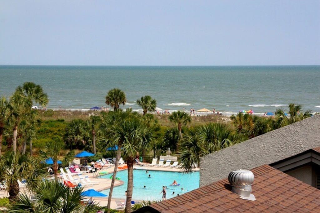 View of Pool & Ocean from Balcony
