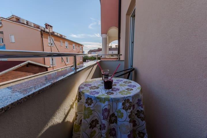 Balcony with seaview.