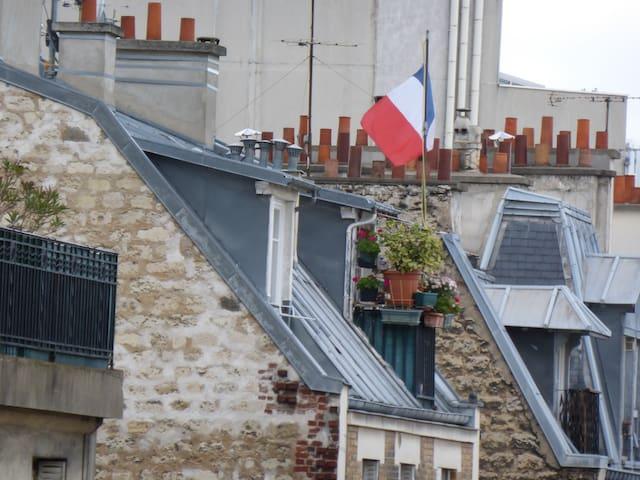 Near Eiffel Tour, flat in the roofs - Paris - Apartemen