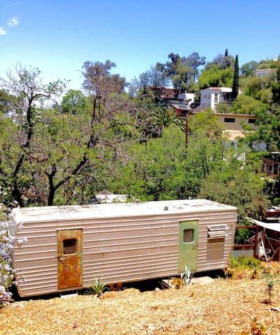 Quiet vintage trailer in echo park