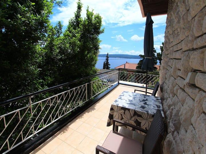 Appartamento con una camera da letto, al mare, a Dramalj (Crikvenica), Il terrazzo