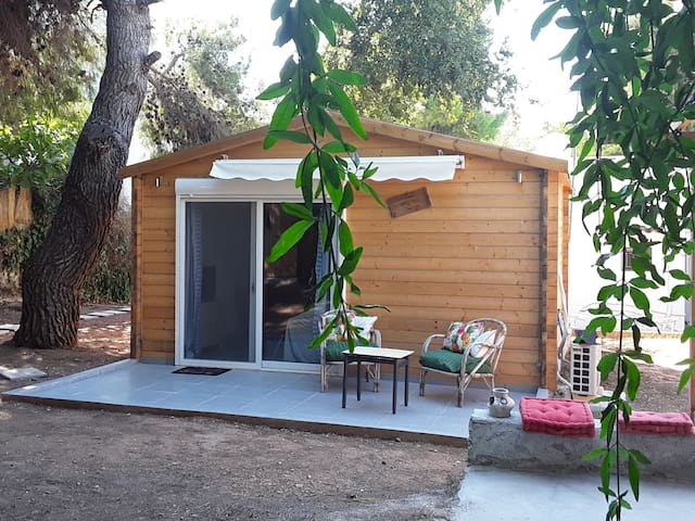 The Stylish wooden chalet, surburds Athens.