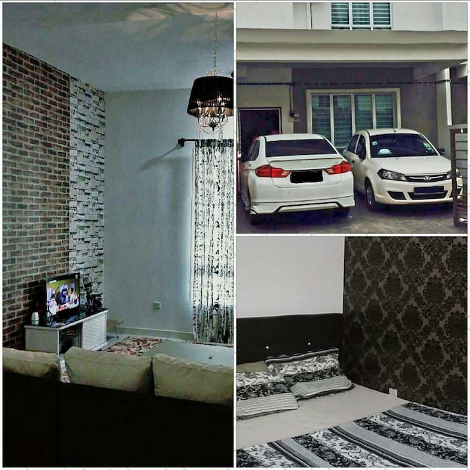 LIVING HALL WITH TV, PARKING FOR 2 + 2 (OUTSIDE) CAR