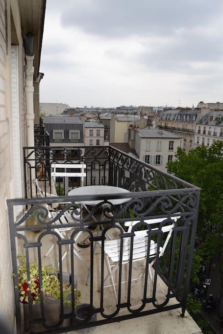 terrasse balcon accès salon