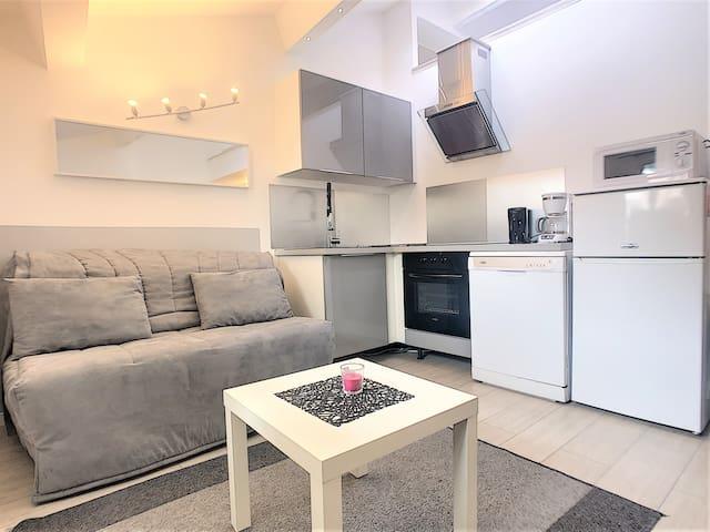 Studio loft Centre de Cannes