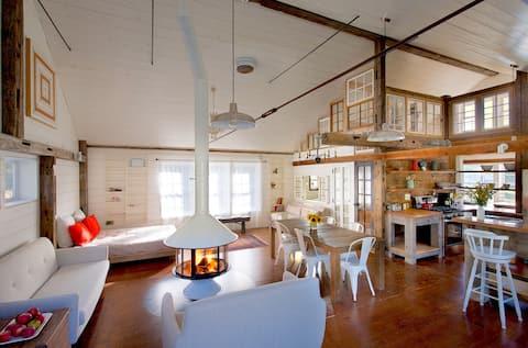 bright serene + spacious barn