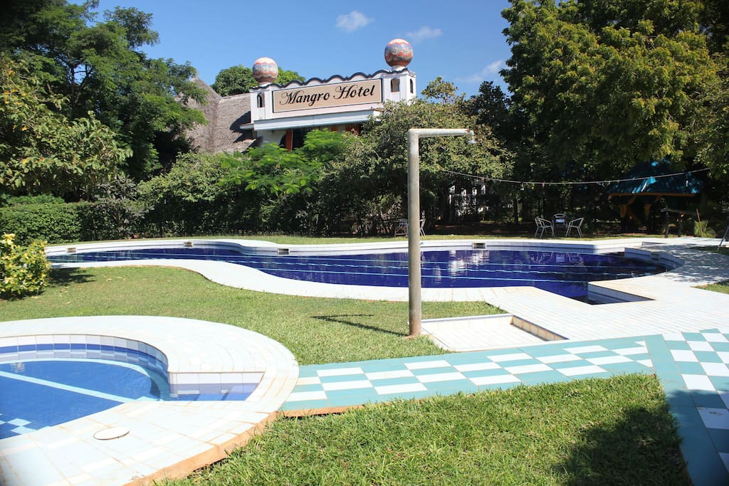 Overview of the pool for both children and adults.