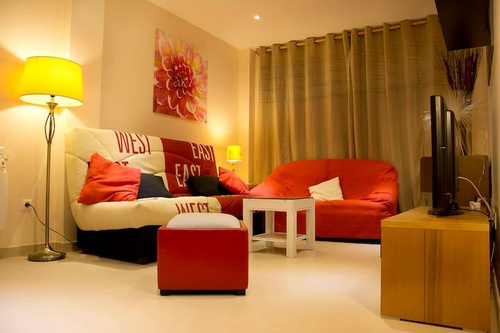2 bed flat . 3 km Beach Cathedrals - San Cosme de Barreiros - Appartement