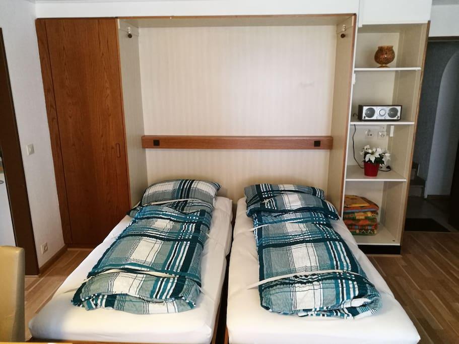 Schrankbetten im Wohnraum