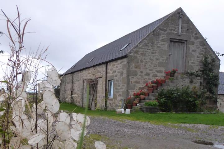 The farm has a traditional farmhouse and farm buildings