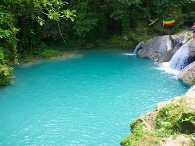 Take a dive into the famous Blue Hole, Ocho Rios