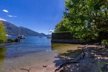 The resident lake beach