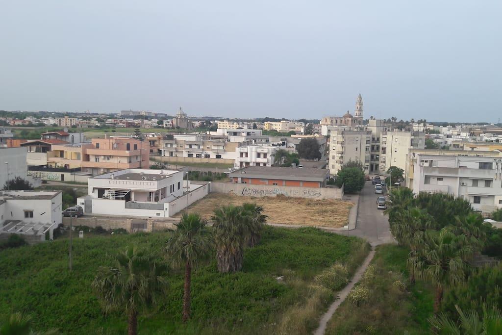 visuale dalla terrazza del condominio