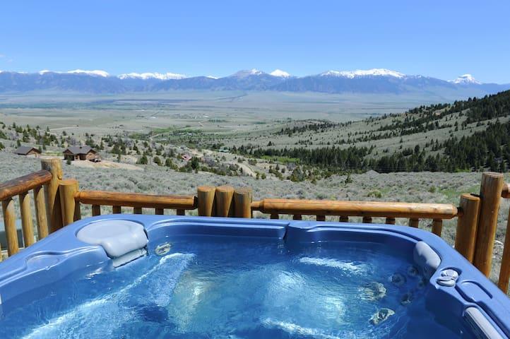 Log Home - Views of Madison Range! Hot Tub!