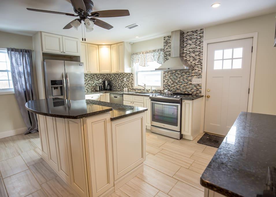 Brand new kitchen.