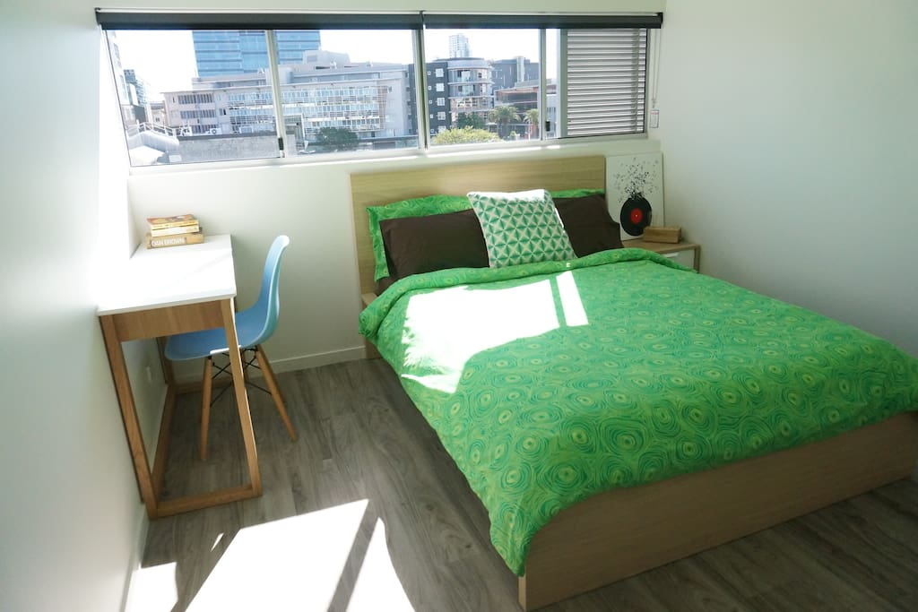 Abundant of natural sunlight with lots of space and a built-in robe